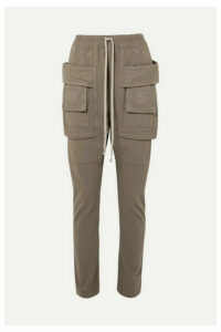 Rick Owens - Creatch Cotton-jersey Cargo Pants - Gray