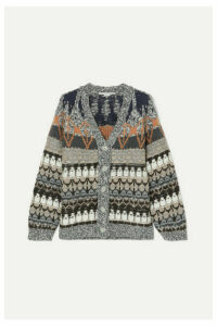 Stella McCartney - Wool-blend Jacquard Cardigan - Blue