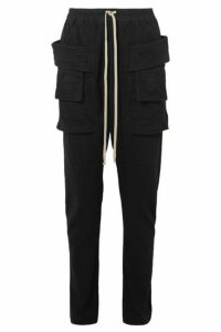 Rick Owens - Creatch Cotton-jersey Cargo Pants - Black