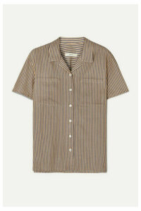MATIN - Striped Cotton-blend Shirt - Navy