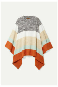 Missoni - Striped Wool Poncho - Beige