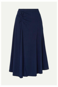 Maggie Marilyn - + Net Sustain Honey Ain't Home Gathered Ribbed Jersey Midi Skirt - Midnight blue