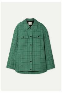 Tibi - Oversized Checked Woven Jacket - Mint