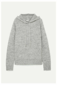Helmut Lang - Ghost Mélange Knitted Hoodie - Gray