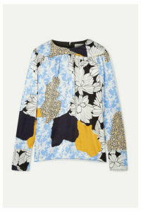 By Malene Birger - Napoli Printed Satin Blouse - Blue