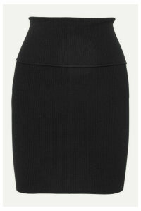 Helmut Lang - Ribbed-knit Mini Skirt - Black