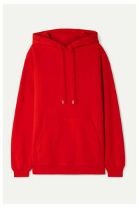 Ninety Percent - + Net Sustain Organic Cotton-jersey Hoodie - Red