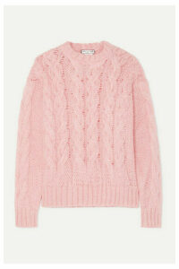 Paul & Joe - Cable-knit Mohair-blend Sweater - Pink