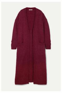 Co - Oversized Wool-blend Bouclé Cardigan - Burgundy