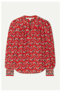 Veronica Beard - Abbie Paisley-print Silk-crepe Blouse - Red