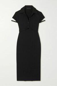 AMBUSH® - Printed Stretch-scuba Top - Black