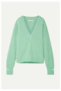 Tibi - Oversized Cutout Alpaca-blend Sweater - Mint