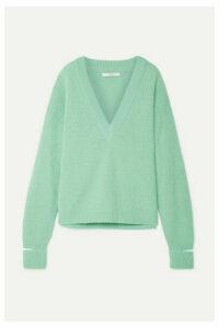 Tibi - Oversized Cutout Alpaca-blend Sweater - Mint