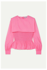 Molly Goddard - Penny Ruffled Shirred Organza Top - Pink