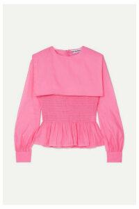 Molly Goddard - Penny Ruffled Shirred Organza Top - Pink