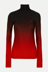 Kwaidan Editions - Printed Ombré Stretch-jersey Top - Red