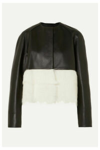 Loewe - Shearling-paneled Leather Jacket - Black