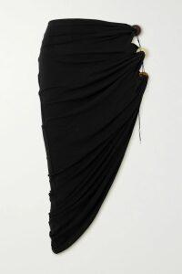 Loewe - Shearling-paneled Leather Coat - Camel