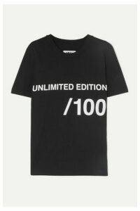 MM6 Maison Margiela - Printed Cotton-jersey T-shirt - Black