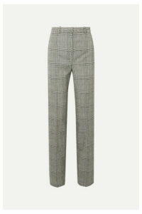 Versace - Prince Of Wales Checked Wool Straight-leg Pants - Gray