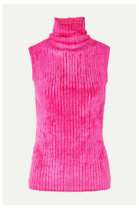 Sies Marjan - Saya Ribbed Chenille Turtleneck Sweater - Fuchsia