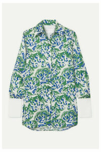 Victoria, Victoria Beckham - Printed Twill Shirt - Green