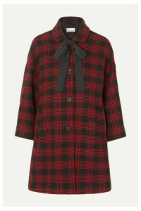 REDValentino - Bow-detailed Checked Tweed Coat - IT48