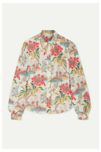 Peter Pilotto - Printed Crepe Blouse - Cream