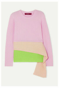 Sies Marjan - Sae Layered Ribbed Wool And Cashmere-blend Sweater - Pastel pink