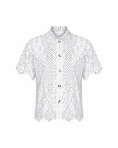 Yumi Curves Floral Lace Shirt
