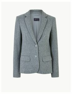 M&S Collection Flannel Jersey Blazer