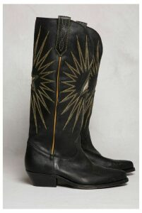 Golden Goose Boots Wish Star Black Shiny Leather Boot - EU40 Black