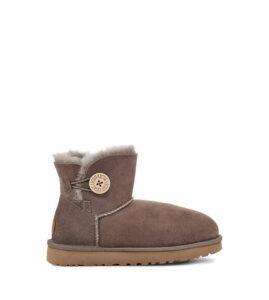 UGG Women's Mini Bailey Button II Boot in Mole, Size 9