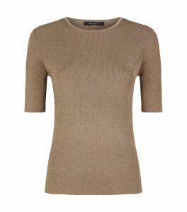 Sparkle Rib-Knit Sweater