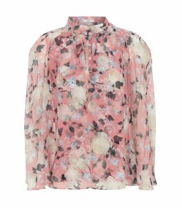 Carvella Silk Cape Blouse