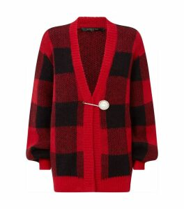 Oversized Check Blake Cardigan