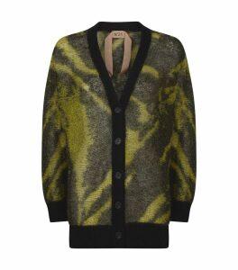 Zebra Print Knitted Cardigan