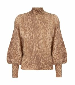 Espionage Leopard Print Sweater