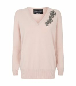 Embellished Wool-Cashmere Sweater
