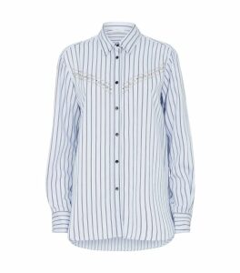 Stud Embellised Stripe Shirt