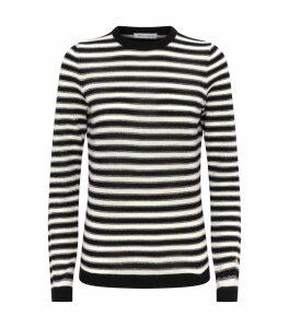 Wool-Cashmere Stripe Sweater