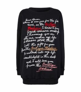 Cotton Letter Print Sweatshirt