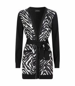 Wool-Silk Zebra Cardigan