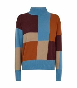 Patchwork Turtleneck Voulaise Sweater