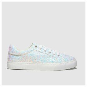 Schuh White Glitterati Trainers