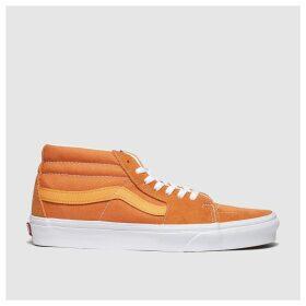 Vans Orange Sk8-mid Trainers
