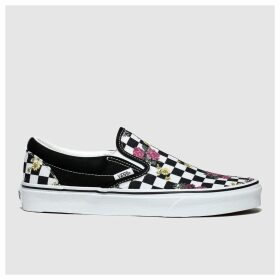 Vans Black & Pink Classic Slip-on Trainers