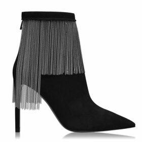 Balmain Mercy Suede Heel Boots