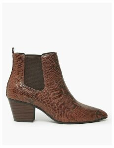 M&S Collection Wide Tortoiseshell Print Chelsea Boots