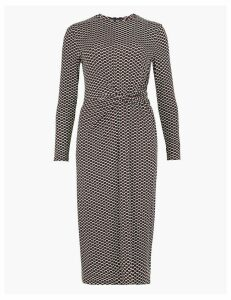 M&S Collection Geometric Print Bodycon Midi Dress